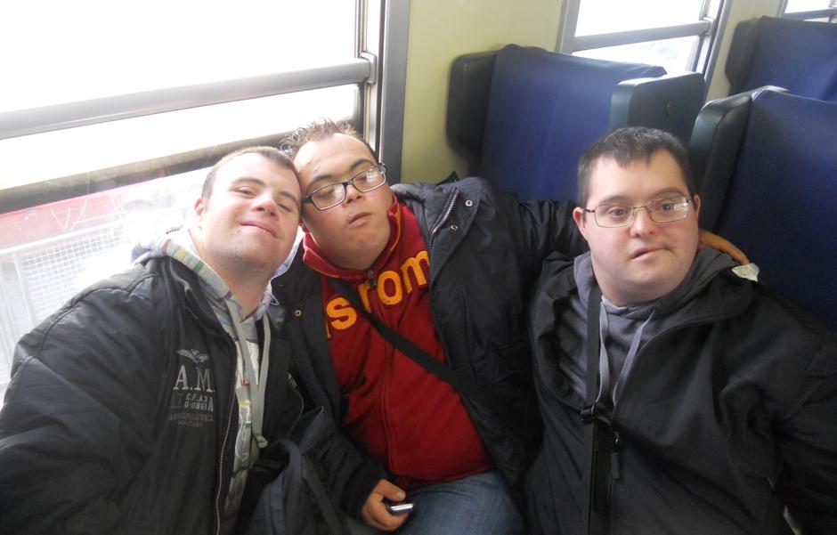 Agenzia del Tempo Libero per ragazzi con Sindrome di Down - sul treno